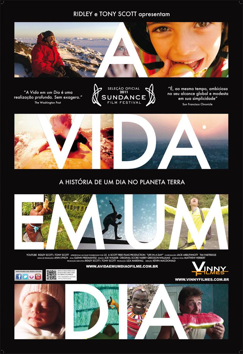 Pôster/capa/cartaz nacional de A VIDA EM UM DIA (Life in a Day)