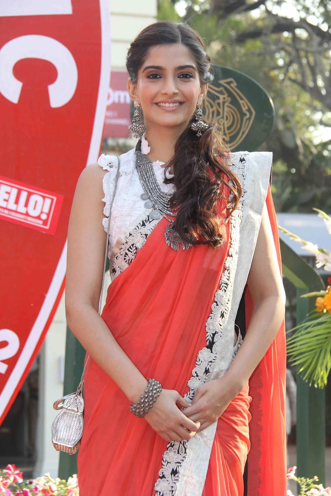 Sonam Kapoor Hot Saree Stills Telugu Mp3 Songs