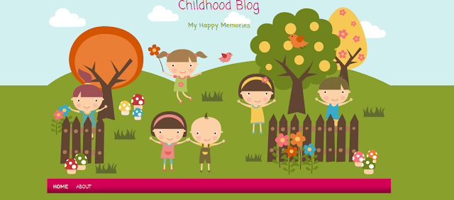 Colorful Family Blogger Template