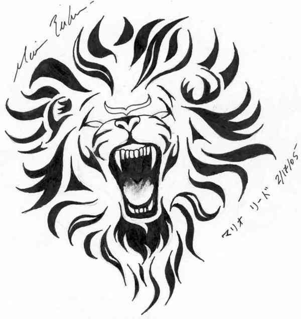 Categories Lion lion tattoo pattern stencil pattern tattoo flash