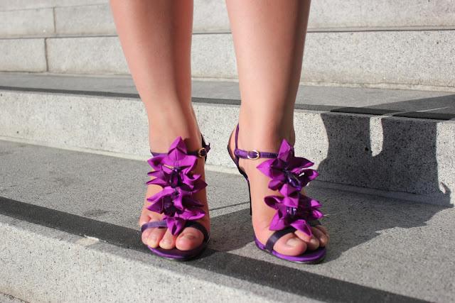 Radiant Orchid Petal Heels