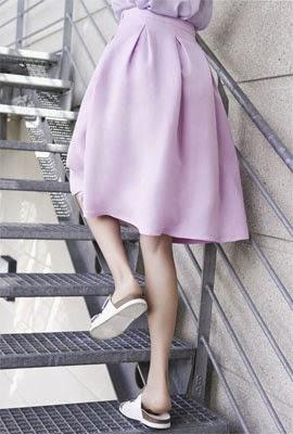 Zara primavera verão 2014 saia de cintura alta