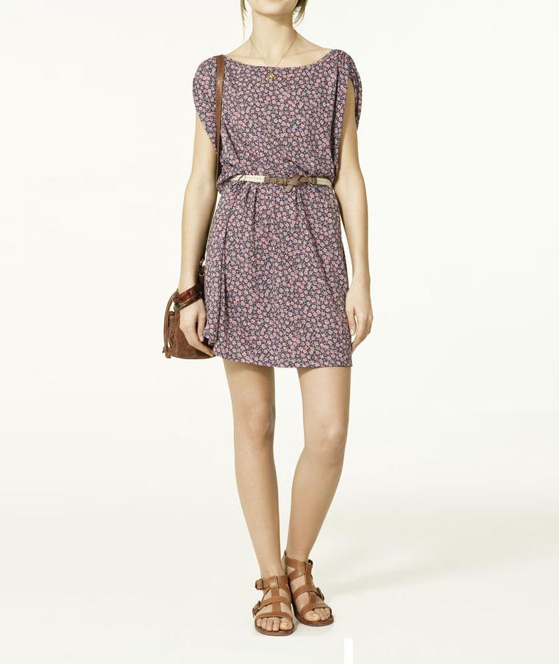 Zara Trafaluc Cotton Dress with Belt ~ ArrogantMinnie Preorder - Clothings