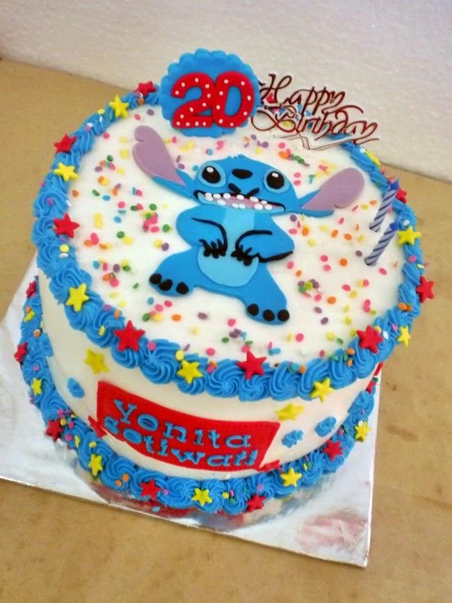 Kue Tart Lilo & Stitch Buttercream Daerah Surabaya - Sidoarjo