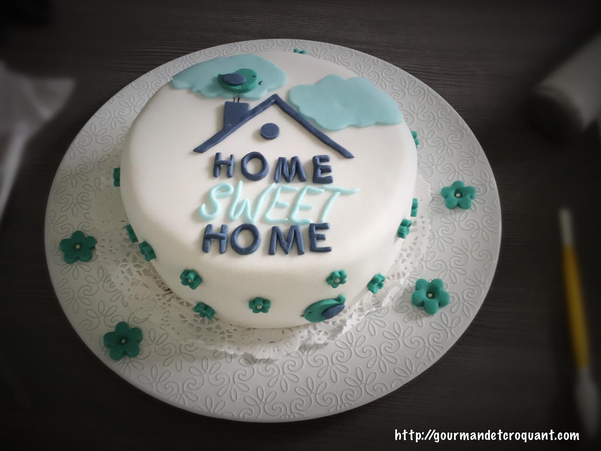 Gourmand et croquant cake design home sweet home for Home sweet home designs