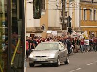 rosia montana protest in cluj napoca