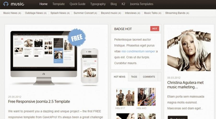 GK Music Free - Gavick Pro Joomla Templates