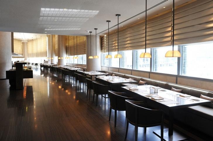 Dining tables in Armani Burj Khalifa Hotel Dubai