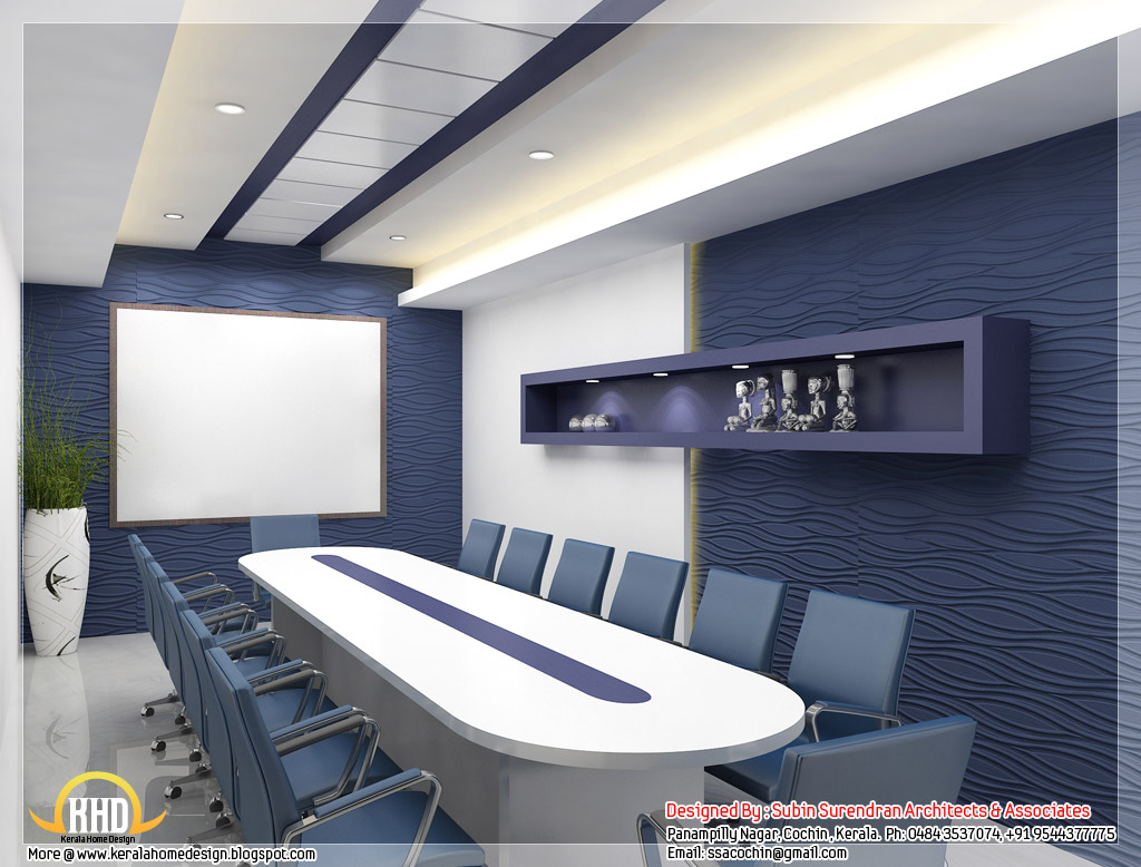 Beautiful 3d interior office designs home appliance for Office interior design
