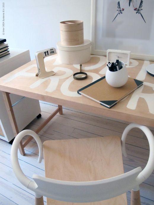 Ikea hack mesa plegable como mesa de trabajo - Ikea mesa blanca ...