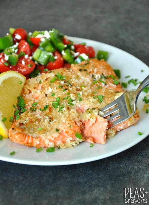 Healthy Herb-Crusted Dijon Salmon