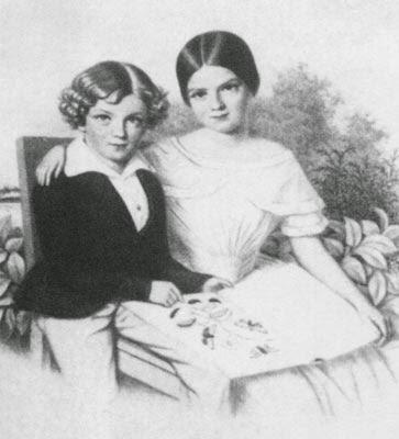 Sissi con su hermano Carlos Teodoro.