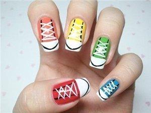 Кеды рисунок на ногтях