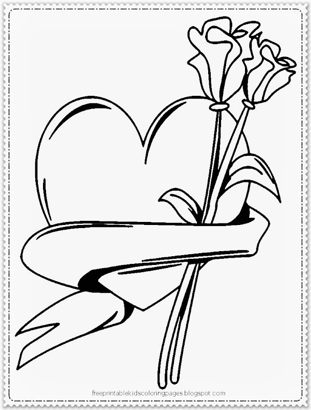 coloring pages for kids valentine flowers coloring pages disney  title=