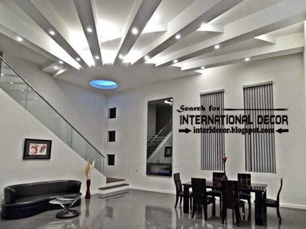 15 modern pop false ceiling designs ideas 2015 for living room for International decor false ceiling