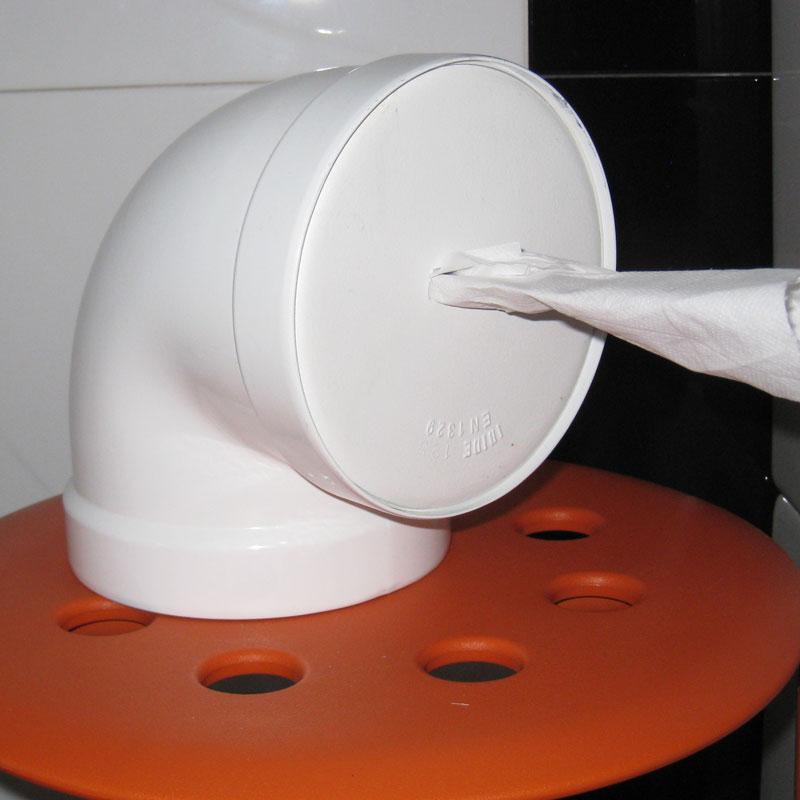 Readapta 2 0 codo como portarrollos for Portarrollos papel higienico