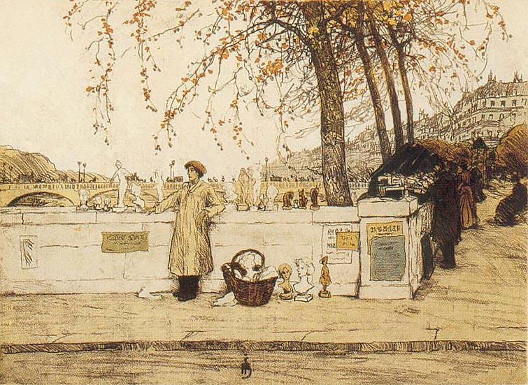 Tavik Frantisek Simon 1877-1942 | Czech Plein-air Colorist painter