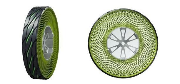 Tayar tanpa angin Bridgestone direka bentuk untuk tidak pancit