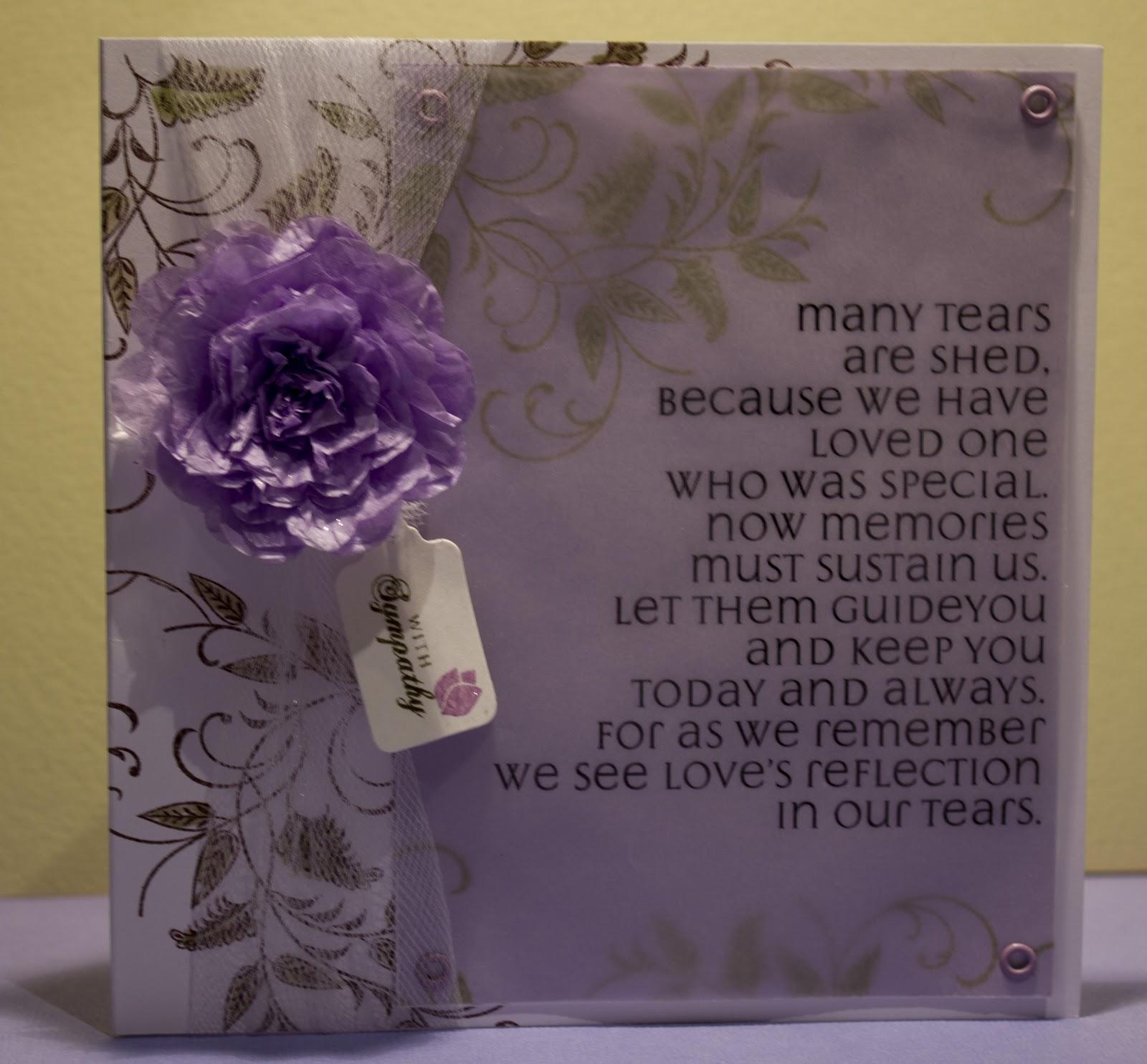 Word Sympathy Card