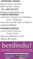 BERDINDU ORDUTEGIA  //  Horario BERDINDU