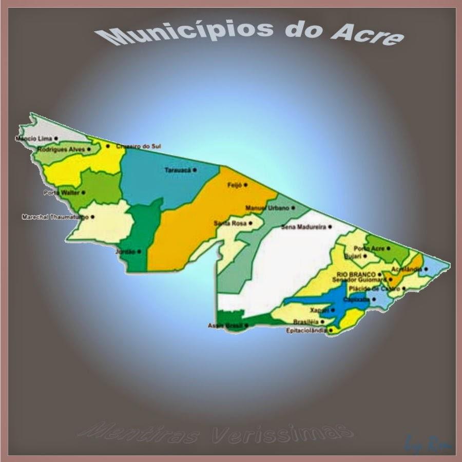 Gentílicos e Data de aniversário dos Municípios do estado do Acre.