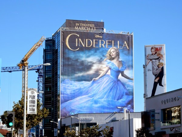 Giant Disney Cinderella billboard