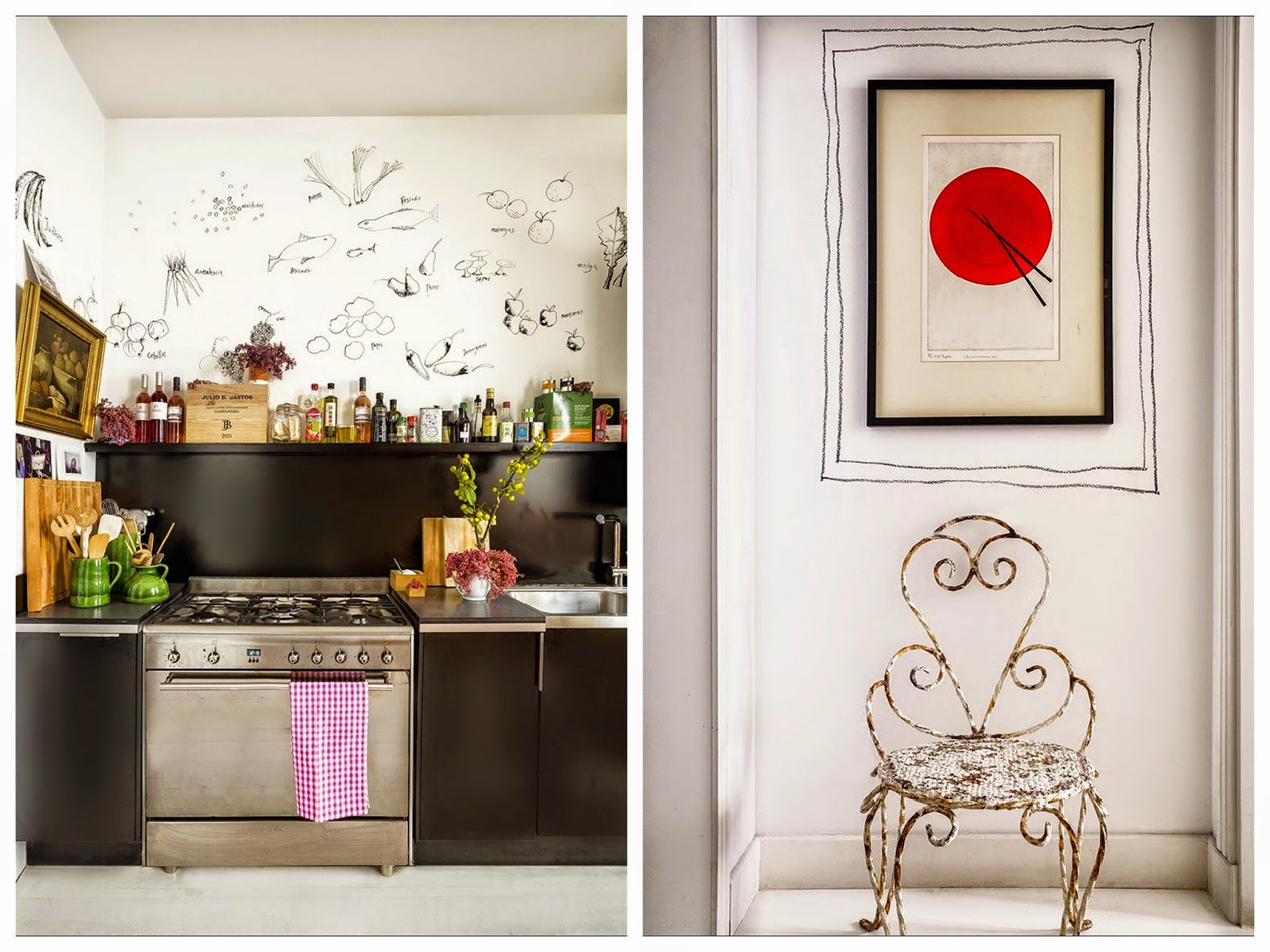 madrid,appartement,déco,couleurs,bohème