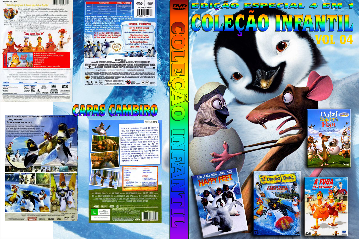 Pin Capa Dvd Happy Feet 2 O Pinguim Game Cover on Pinterest
