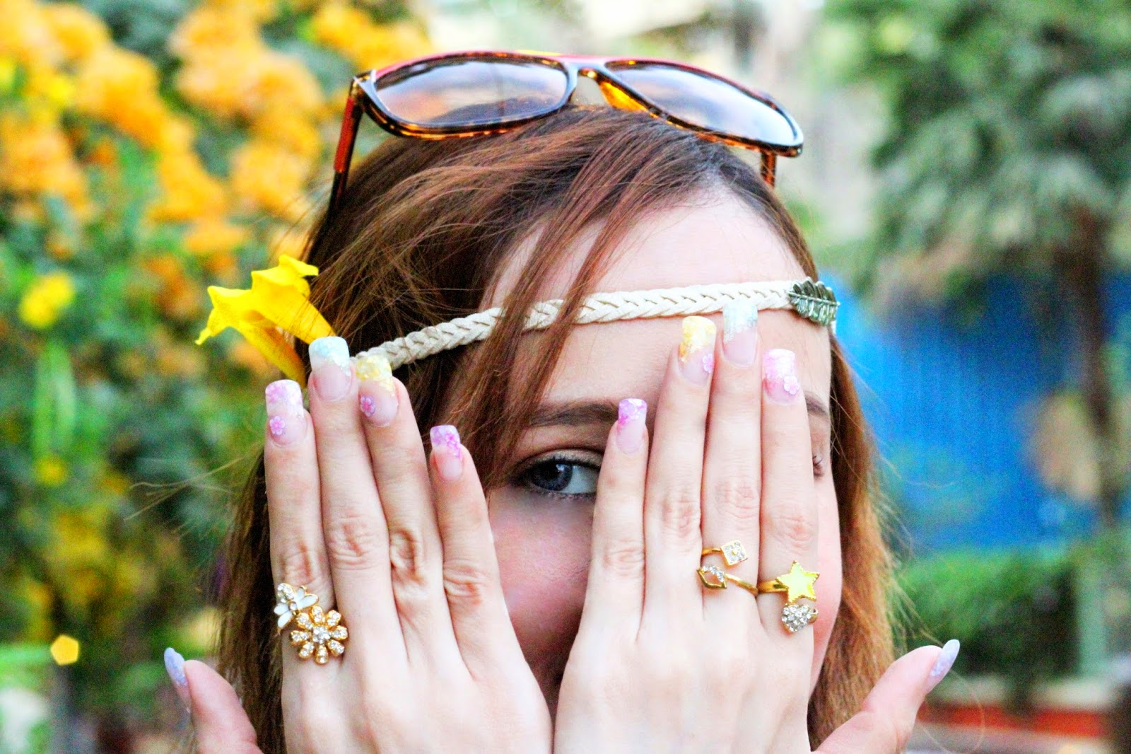 Spring Multi-colour manicure