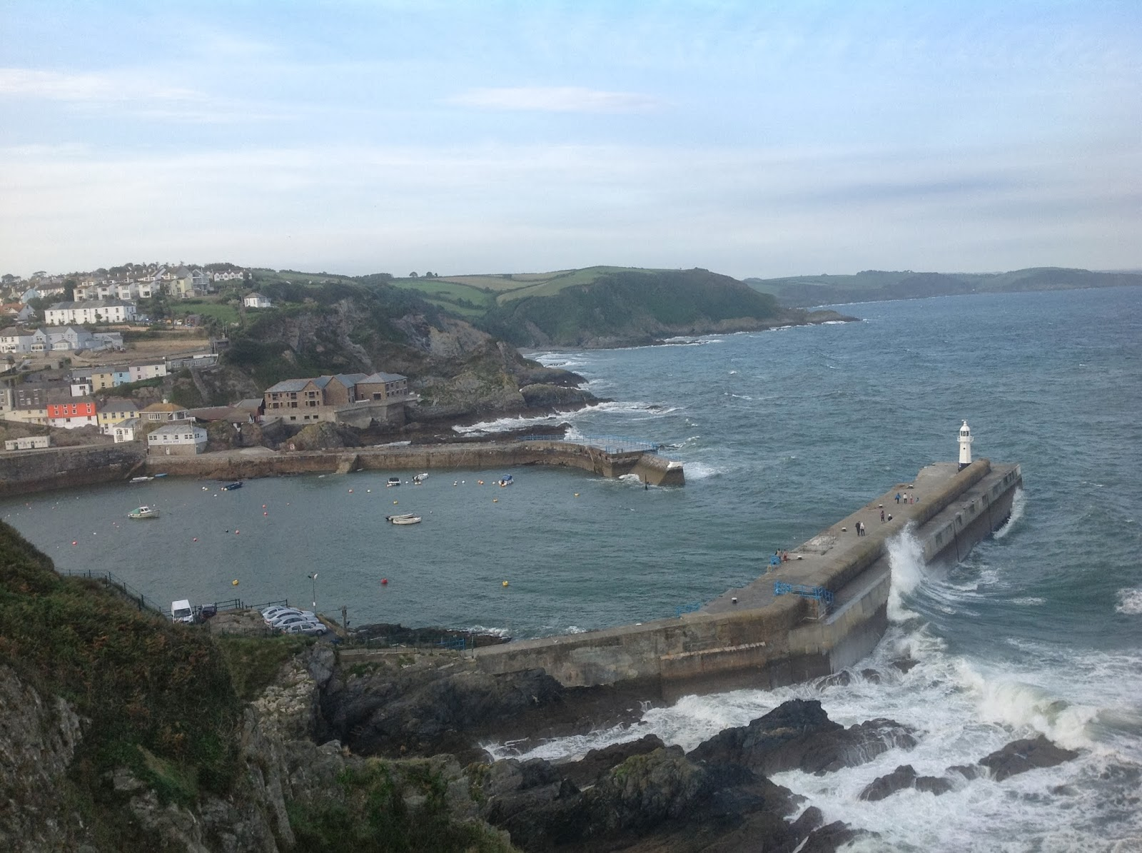 Mevagissey harbour and lighthouse