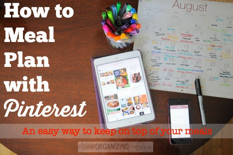How to Meal Plan with Pinterest: An Easy Way to Keep on Top of Your Meal Planning :: OrganizingMadeFun.com