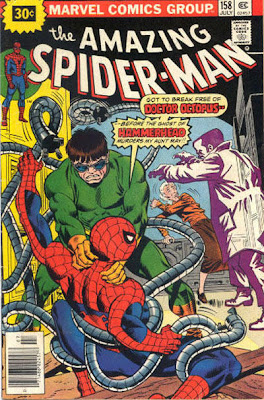 Amazing Spider-Man #158, Dr Octopus attacks Spidey as Hammerhead threatens Aunt May