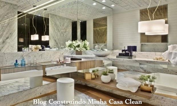 Construindo Minha Casa Clean Banheiros Femininos com Penteadeiras! O Sonho d -> Pia Do Banheiro De Luxo