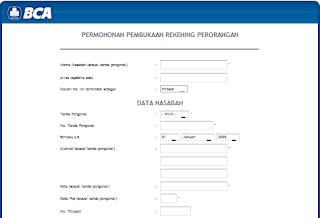 Membuka Rekening Bank BCA Online