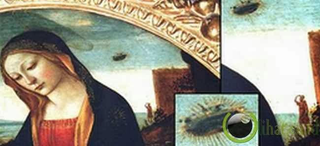 UFO di lukisan - Madonna dengan Saint Giovannino