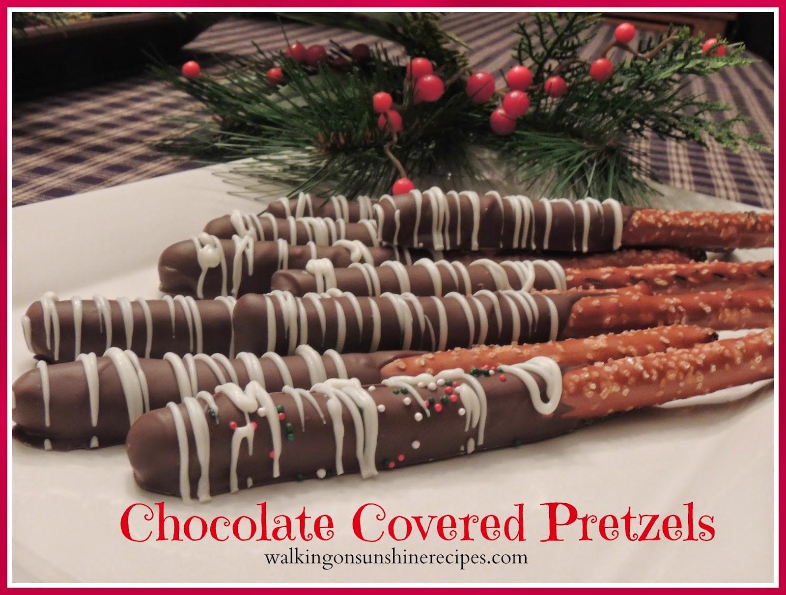 Chocolate Covered Pretzels / Walking on Sunshine Recipes