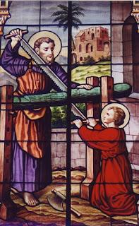 Saint Joseph et Jésus - http://prieres-catholiques.blogspot.fr/