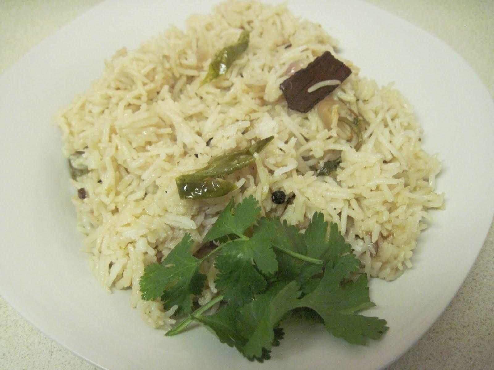 how to make plain pulao in hindi