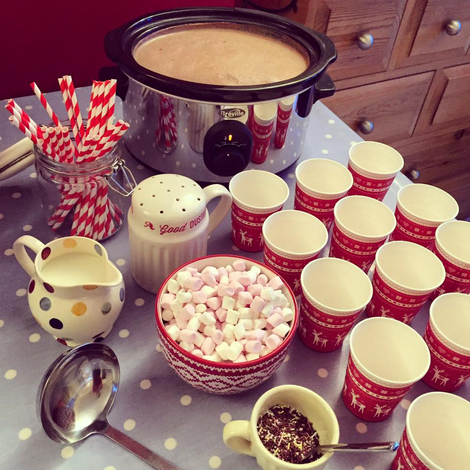 Slow Cooker Hot Chocolate Station