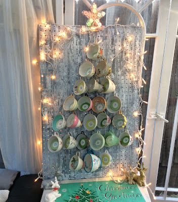 24 cups of tea Christmas countdown calendar, stefanie girard, recycled tea cups