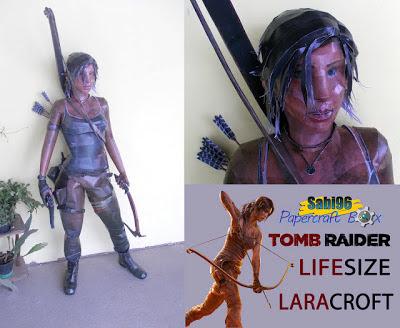 Tomb Raider 2013 – Life Size Lara Croft Papercraft