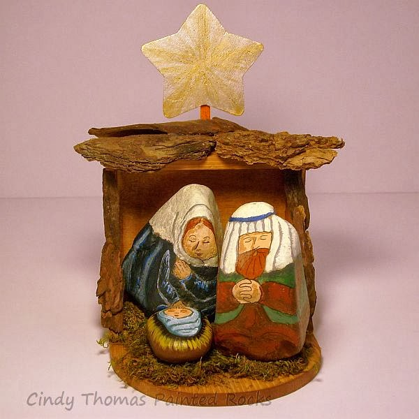 Painting rock stone animals nativity sets more 2013 diy stable for nativity sets painted on rocks solutioingenieria Choice Image