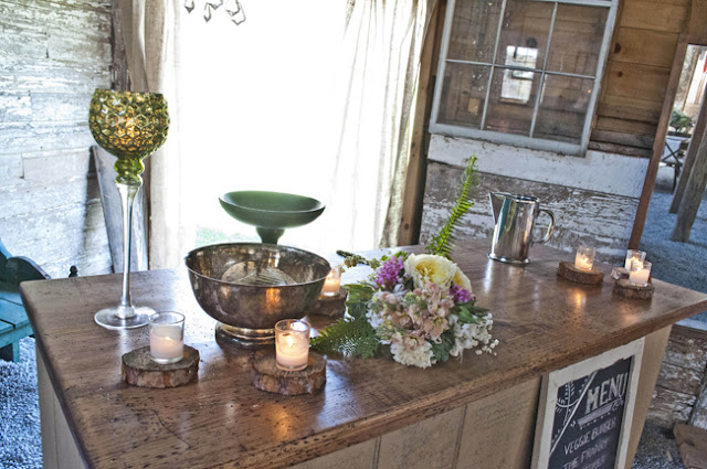 Vintage Rustic Farm Wedding Catskills shot by fine art wedding photographer Angela Cappetta view of room with bar  in barn