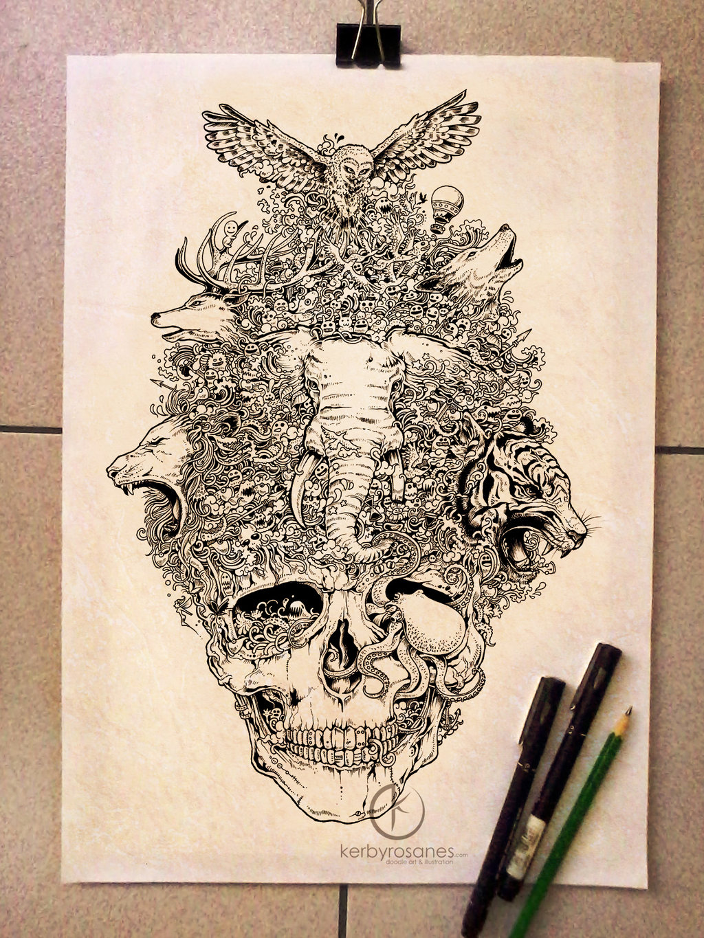 Amazing moleskine doodles burst with energy for Kerby rosanes