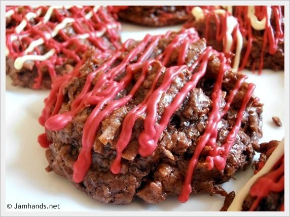 Jam Hands: Chocolate & Cherry Coconut Macaroons