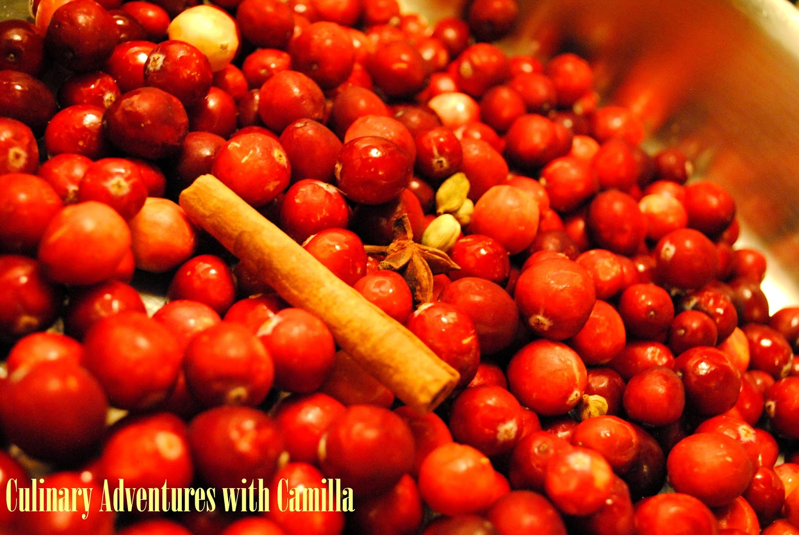 Culinary Adventures with Camilla: Boozy Spiced Cranberry Sauce