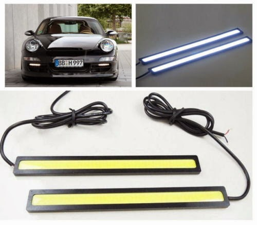 2 PCS 10W 17cm Bright COB Car LED Lights for DRL Fog Driving Lamp Waterproof 12V