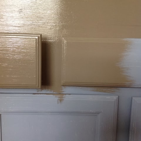 This Is Only 1 Coat Of The Brown. If I Would Have Used A White Primer On  These White Cabinets, I Would Have Needed At Least 2 Coats Of This Brown  Paint To ...