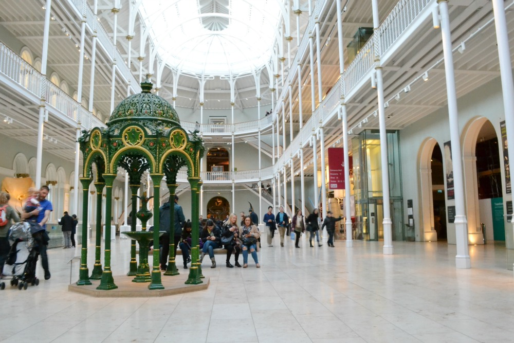 nationa museum of scotland main hall fountain glass ceiling