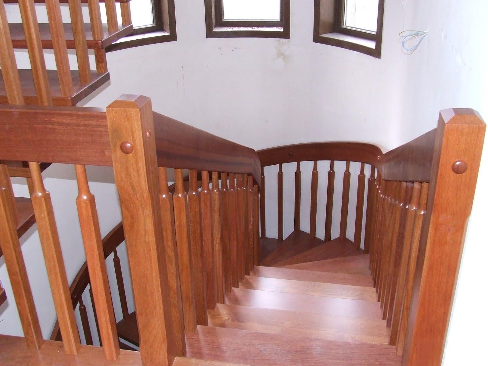 Escaleras de madera majestuosas escaleras halicoidales - Construir escalera de madera ...